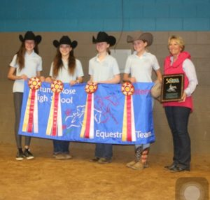 Middle School Reserve Champion Team. Chloe Stephenson, Ava Sinclair, Emma Womble